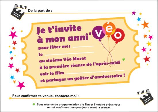 Häufig Ton anniversaire au cinéma Cinéma Muret - Véo DA58