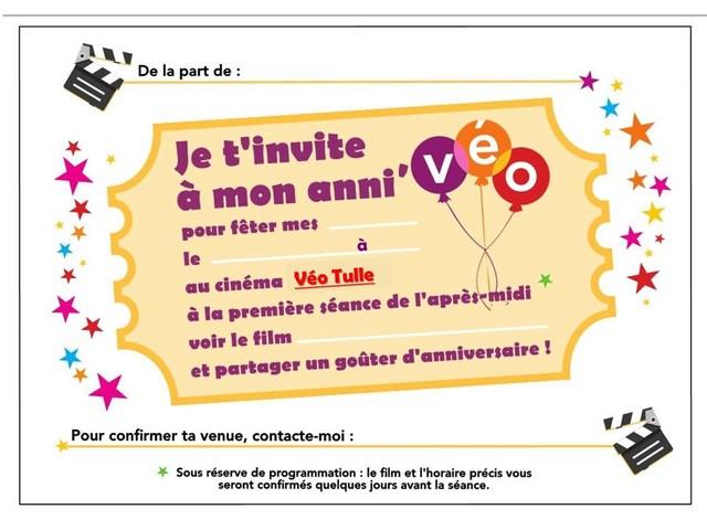 Anniversaire Au Cinéma Tulle Véo